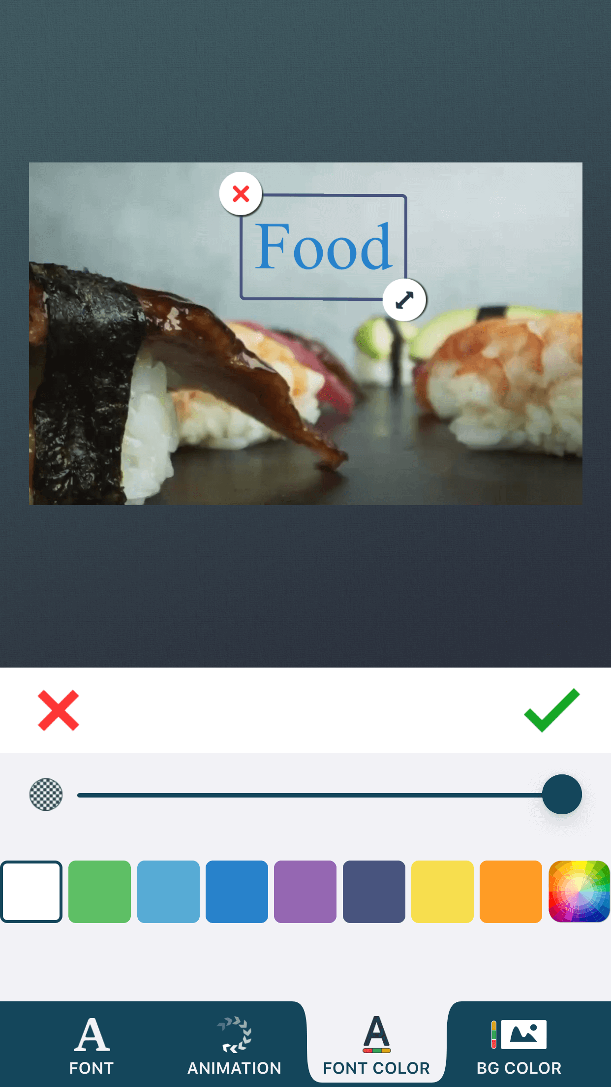 Insert text to videos with zShot video editor app.