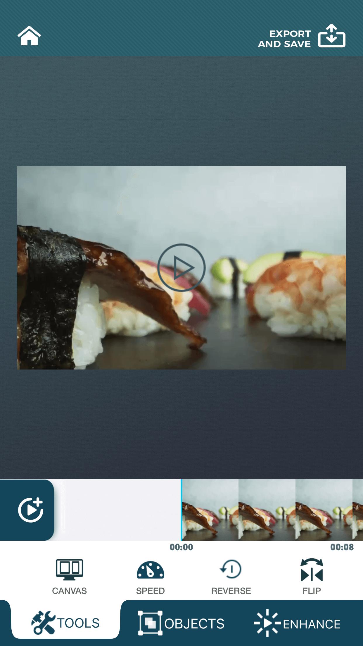 Canvas feature of zShot app.