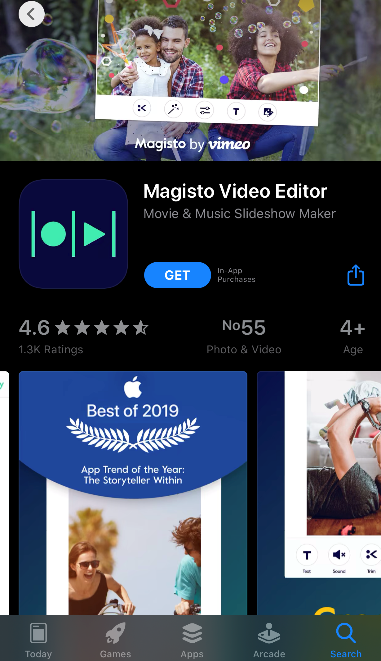 Magisto video editor app for movies and music.