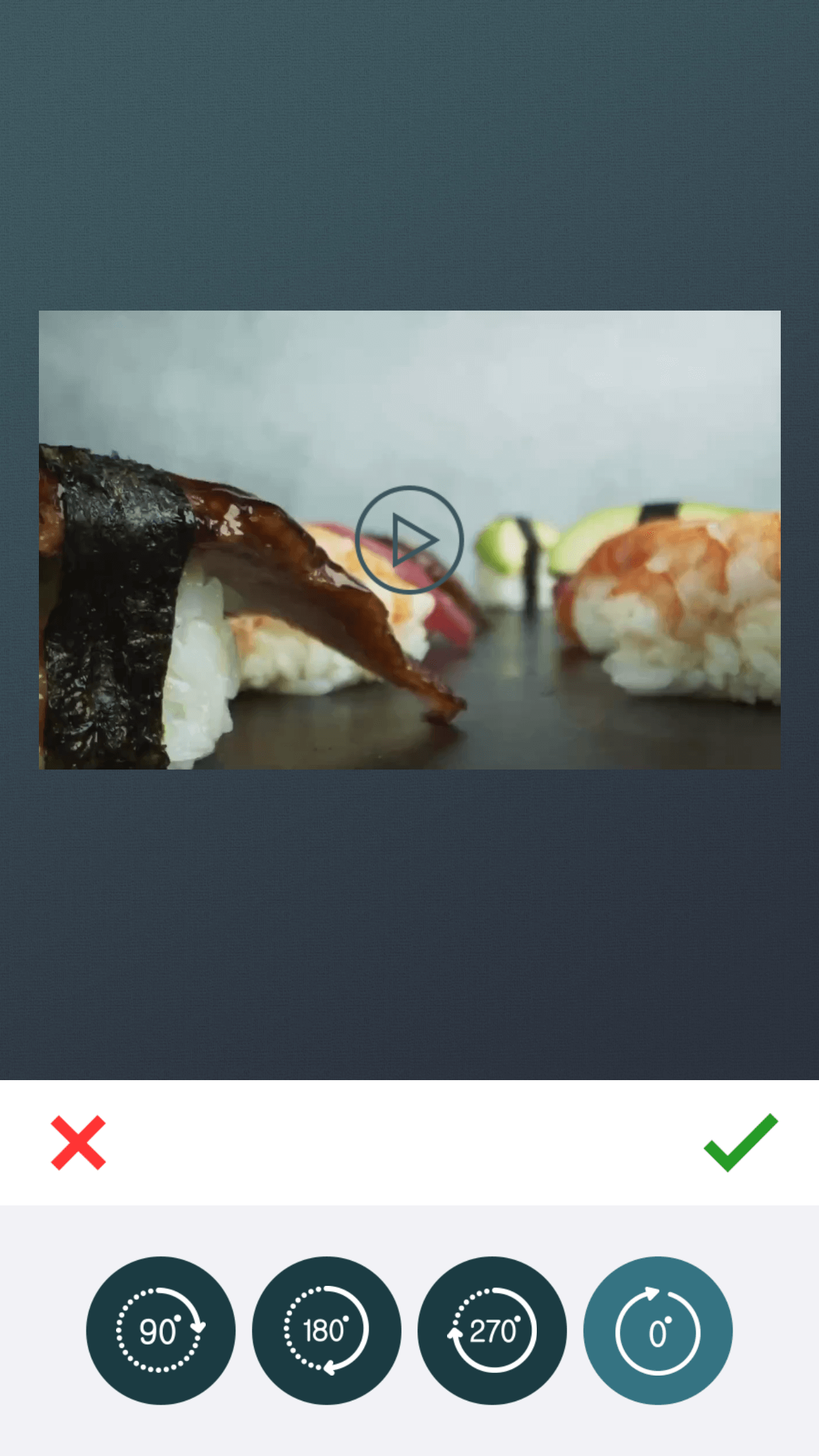 Rotate feature of zShot app.