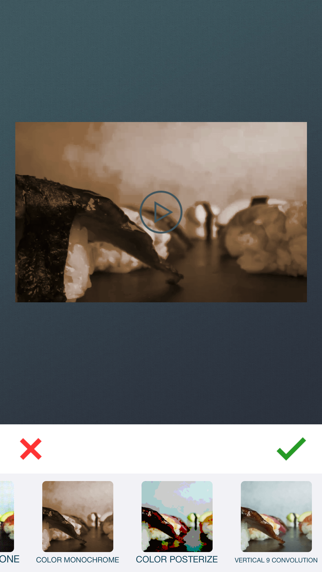 Add effects to video using zShot app.