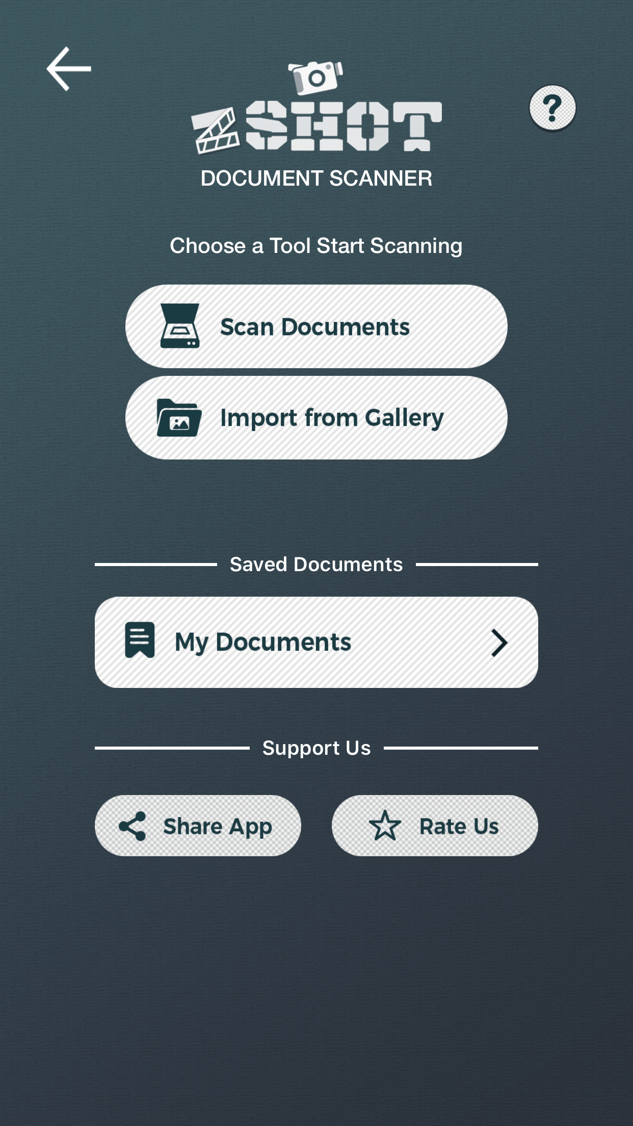 zShot app - scan documents on iPhone