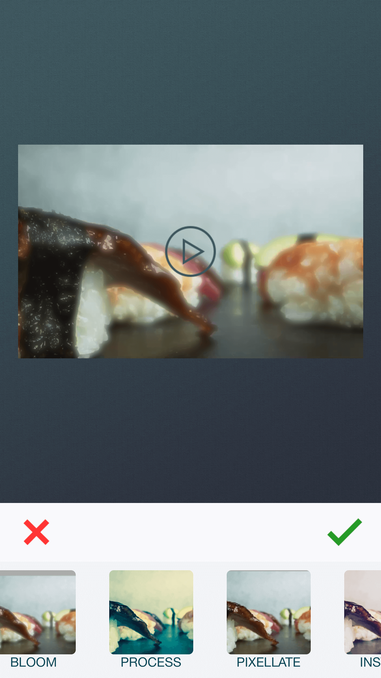 Apply filters to videos using zShot video editor app.